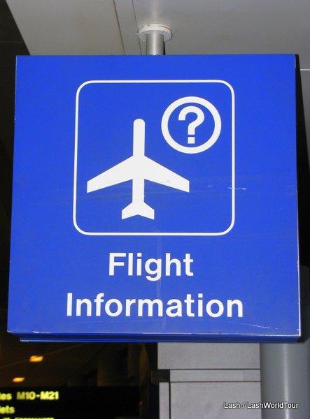 flight information sign