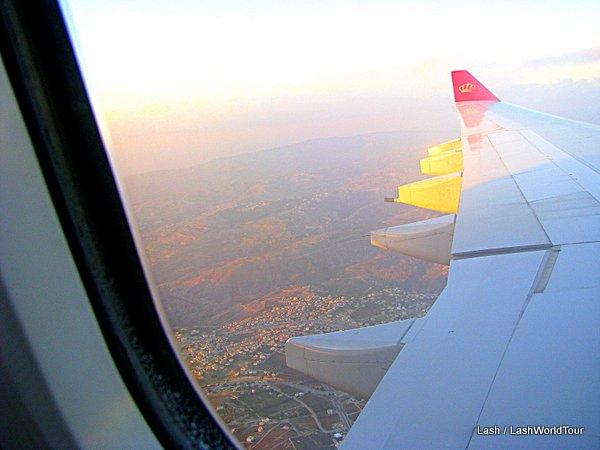 flight over Jordan