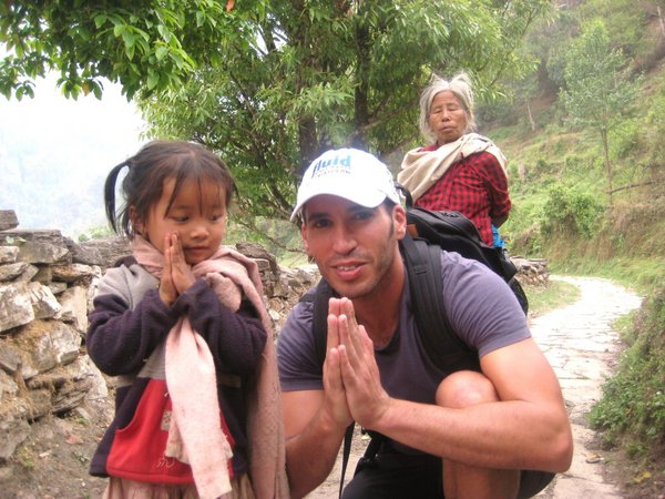travel interview-Tal Gur with kids in Nepal