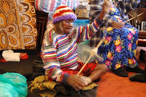 Aboriginal woman -Alice Festival- Australia- Alice Springs