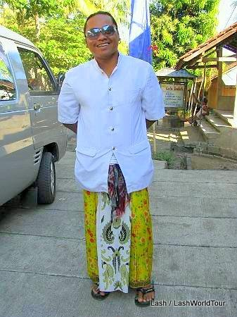Wayan ready for ceremony- Bali