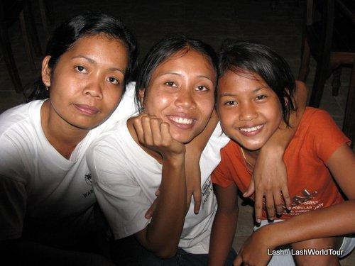 3 Balinese girls-Amed- Bali