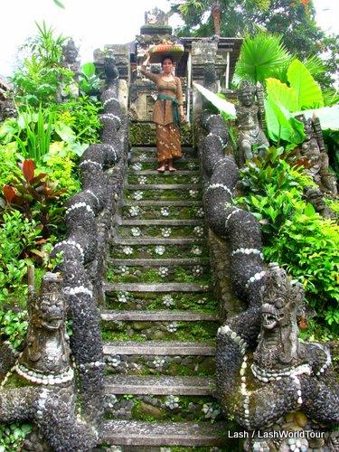 temple at Tchampuan Hotel - ubud -bali