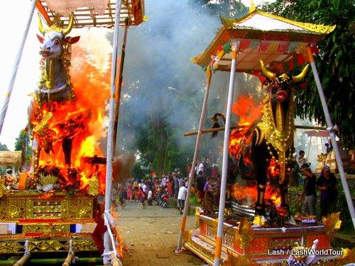 Balinese cremation ceremony- Ubud- Bali