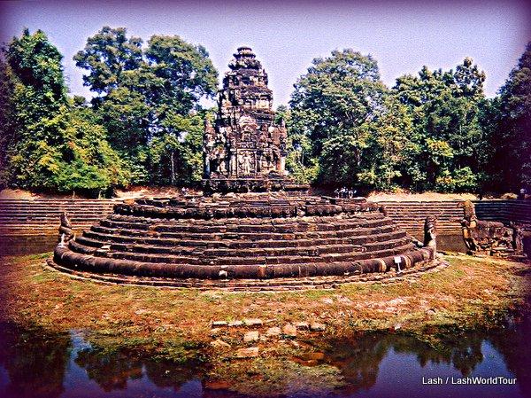 Angkor Wat - bathing pools - Cambodia