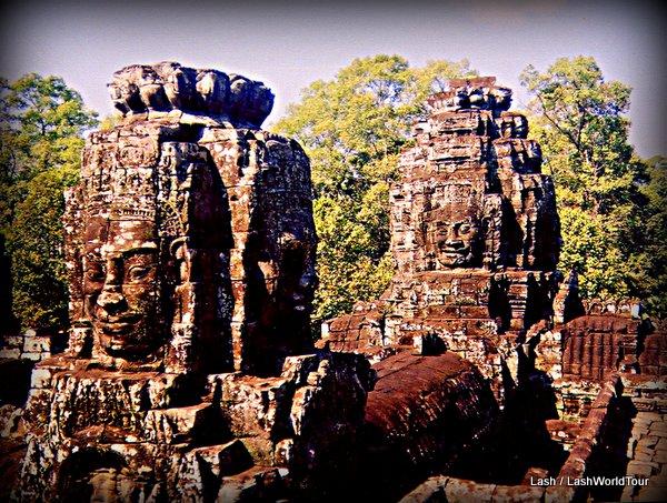 Angkor Wat stone heads