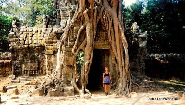 Lash at Angkor Wat - Cambodia
