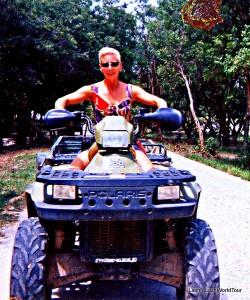 Lash driving ATV - Survivor Thailand