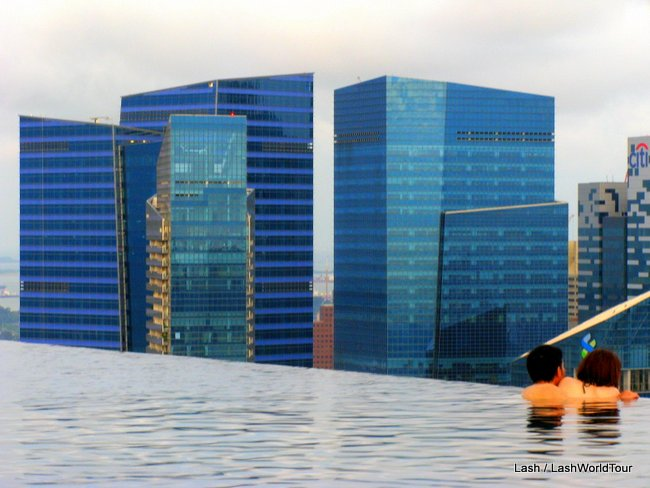 skyscrapers - Marina Bay Sands Infinity Pool -Singapore