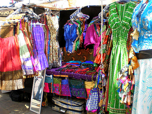 clothing stalls  - Camden Markets - London