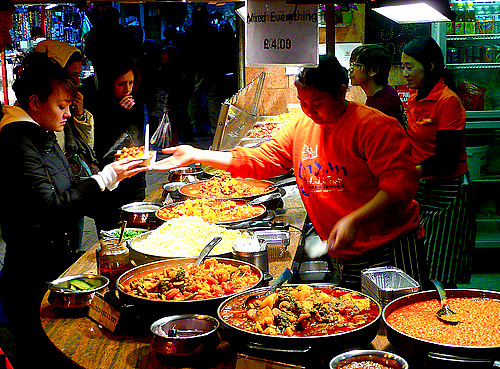 food stalls - Camden Markets - London
