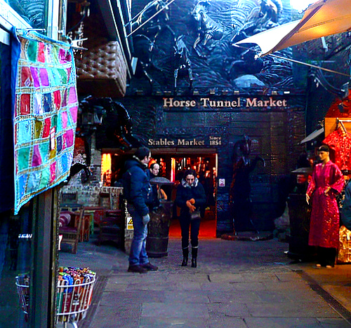 horse stalls market area  - Camden Markets - London