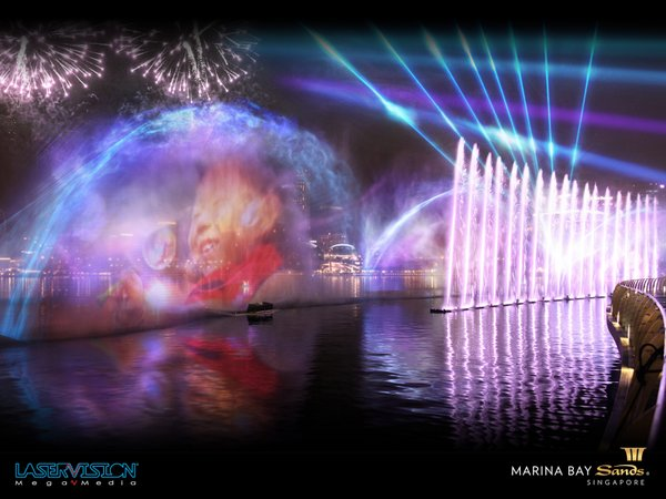 Marina Bay Sands Multimedia Laser Show