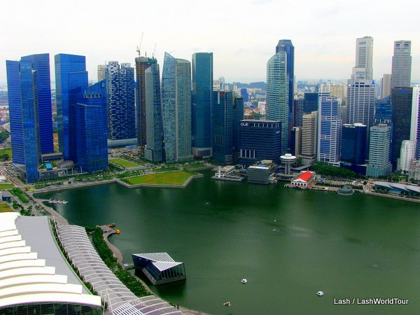 Marina Bay and Financial district - Singapore