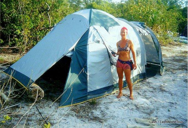 Lash at tent - survivor thailand
