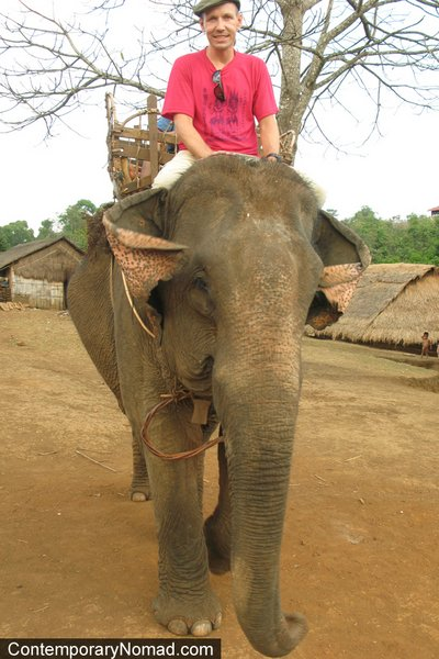 Contemporary Nomad - riding-elephants-cambodia
