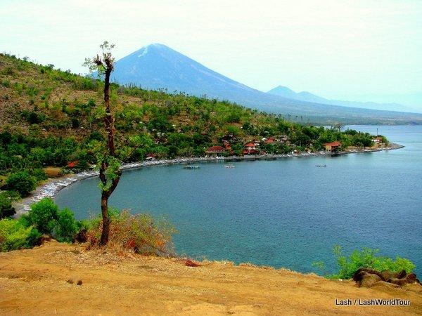 Bali's north coast at Amed - Mt Agung - Bali