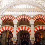 red & white double arches - La Mezquita - Great Mosque of Cordoba - Cordoba - Spain