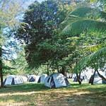 Survivor TV Show- hundreds of tents - Survivor Thailand