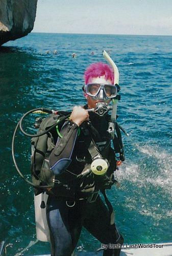 Lash scuba diving in Thailand