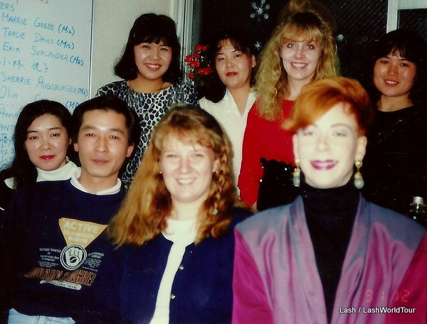 Lash with students and teachers - Japan -teaching English