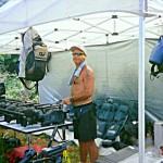 survivor tv production - camera tent