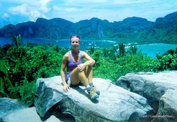 travel perspectives - Lash at Koh Phi Phi viewpoint - Thailand