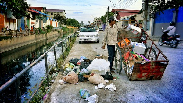 neighborhod street - Phnom Penh - Cambodia