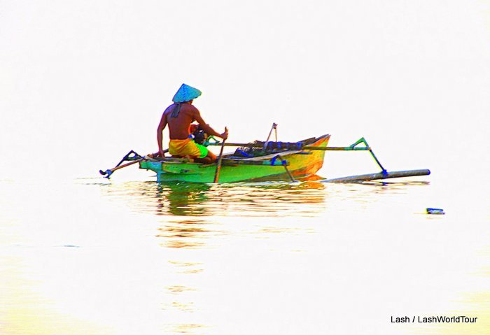 Boats of Asia - fishing boat at dawn - Gili Meno
