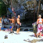 rock climbers - Tonsai Beach - Thailand