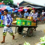 Burmese market delivery boy