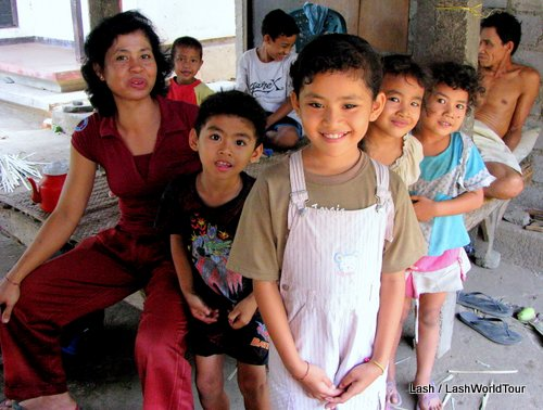 Balinese family in north Bali