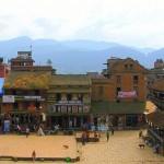Baktapur and mountains beyond