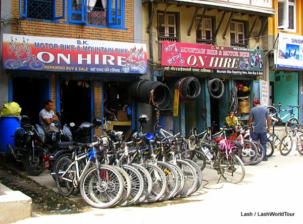 bicycle rental shop - Kathmandu