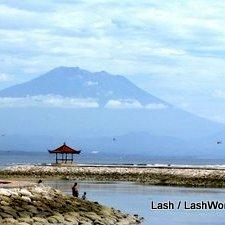 Mt Agung from Sanur Bali