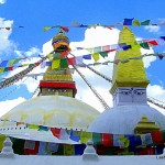photos of Tibetan temples include Boudhnath Stupa - Kathmandu - Nepal