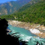 Ganges River north of Rishikesh