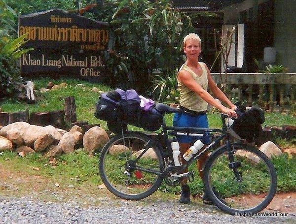 LashWorldTour cycling at Khao Luang NP