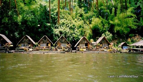 riverside bungalows in Kanchanaburi Province