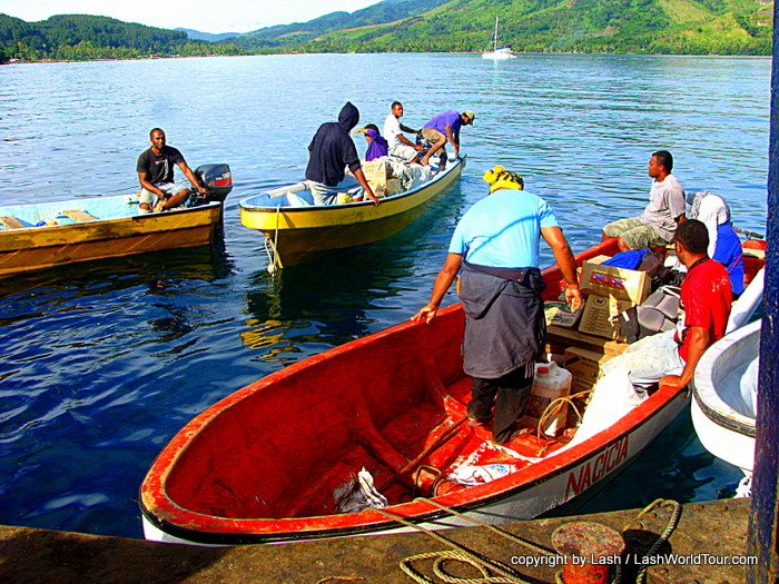 locals at Kadavu Island - Fiji