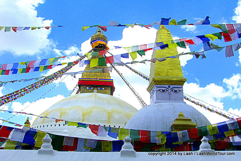 Boudhanath Tibetan Stupa - Kathmandu Nepal
