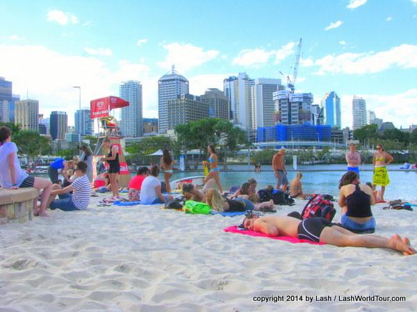 Brisbane city beach on South Bank