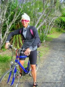 LashWorldTour cycling at Pt Arkwright