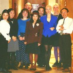 LashWorldTour with boss & staff of small English conversation school