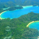 aerial view of Abel Tasman NP - from scenic flight