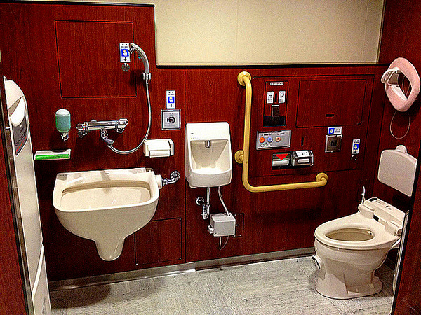 Japanese public toilets for Public bathrooms in japan