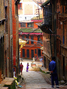 narrow alley is one of my photos of Baktapur