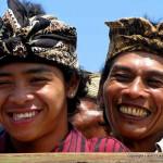Rural Balinese men attending a ceremony
