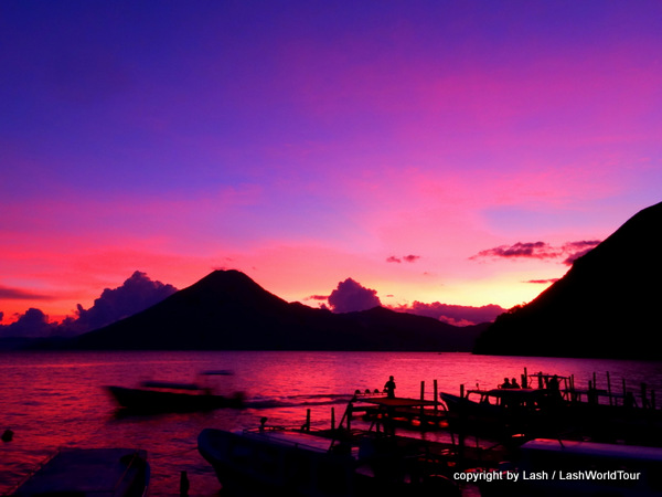 sunset at Lake Atitlan - Guatemala