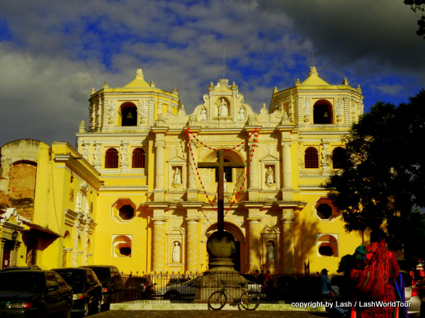 El Merced glowing in evening light - Antigua